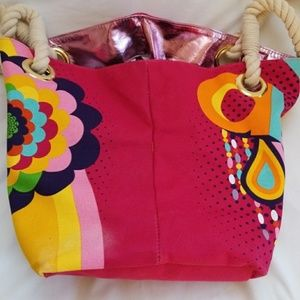 Amika Bags - AMIKA PINK ROPE BAG